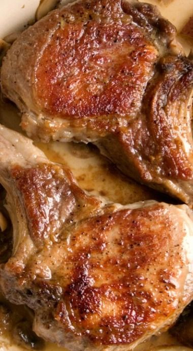 Braised pork chops, Garlic red potatoes and Braised pork on Pinterest