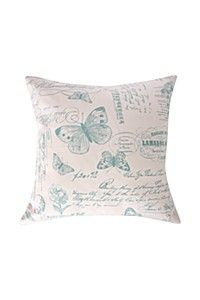 2 PACK PRINTED VIOLET SCRIPT 45X45CM SCATTER CUSHION COVER