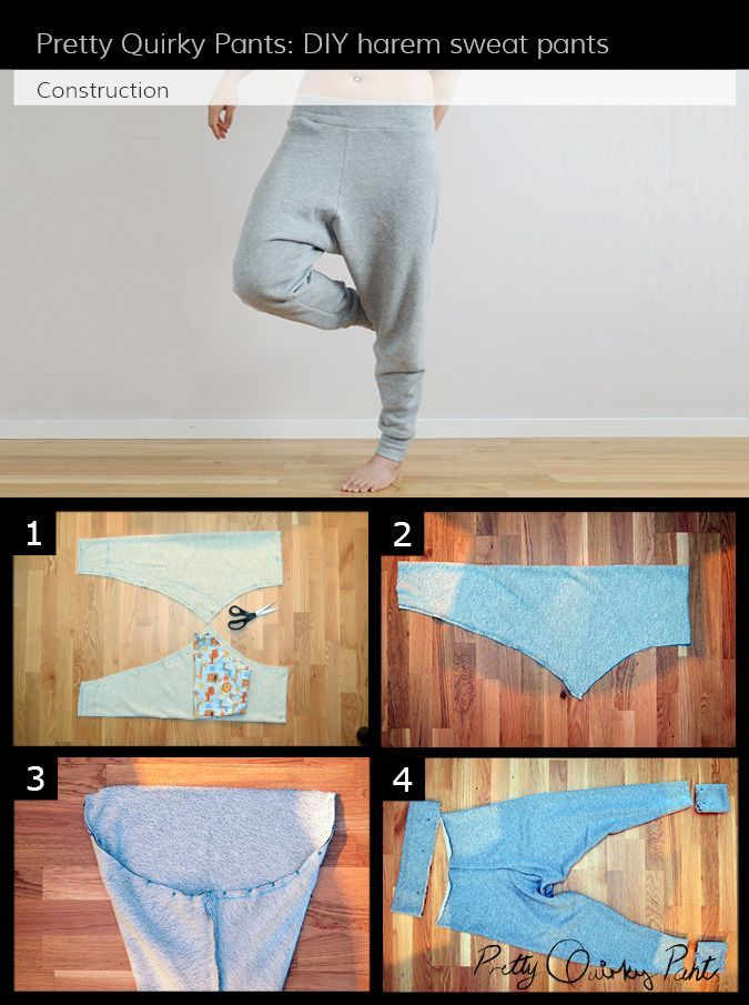 DIY harem pants instructions