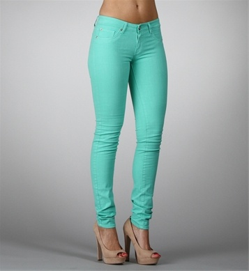 Mint Wash Skinny Jeans: Mint Wash, Style, Mint Skinny Jeans, A Color, Dream Closet, Clothes Nails Hair Jewellery, Colored Skinny Jeans, Wash Skinny, Colored Jeans