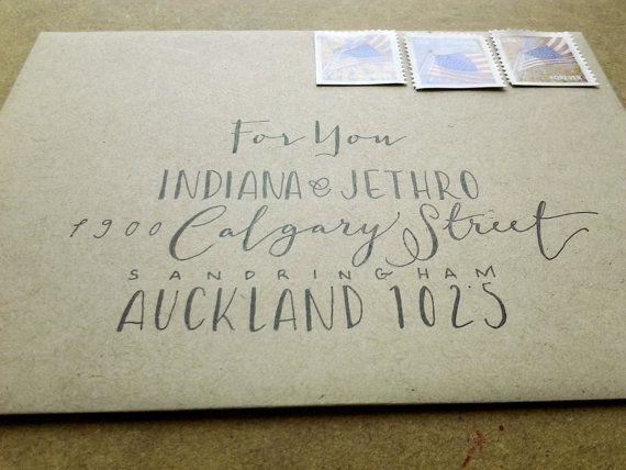 65 best envelope envy images on pinterest addressing envelopes custom hand lettered envelope addressing thecheapjerseys Gallery