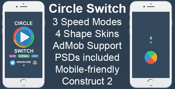 Circle Switch - HTML5 Mobile Game | design | Mobile game, Games, Coding