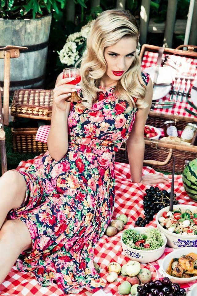 Lena Hoschek s/s 2014. She always finds drop-dead Gorgeous models!