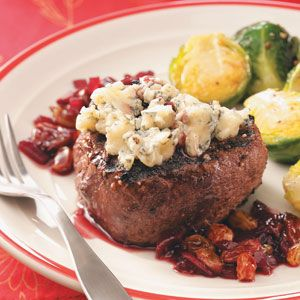 Peppered Filets with Cherry Port Sauce for 2 | Recipe