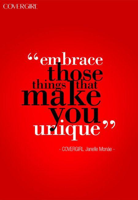 EMBRACE your UNIQUENESS! quotes inspiration