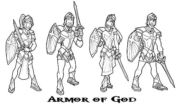 How To Draw Armor Of God Coloring Page : Coloring Sun