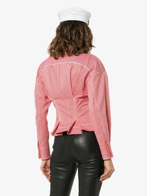 a564d395e8734a Versace Check Print Zip Detail Cropped Jacket in 2019 | Jacket Lover ...