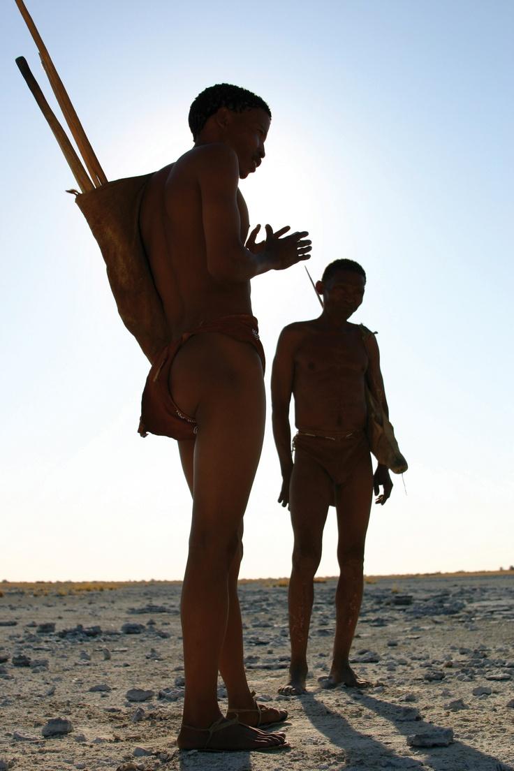 Natives at the Kalahari, Botswana