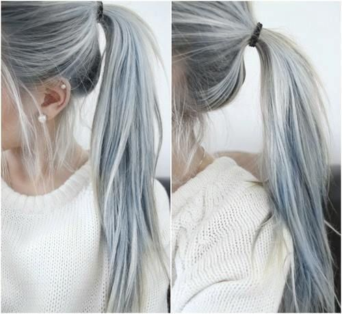I have already decided that when my hair starts to gray, I am just going to die it all silver. Whatsup?