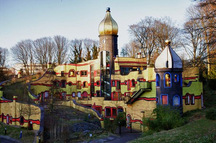 Hundertwasser House in Essen, Germany. Photo by LHxy - Pixdaus