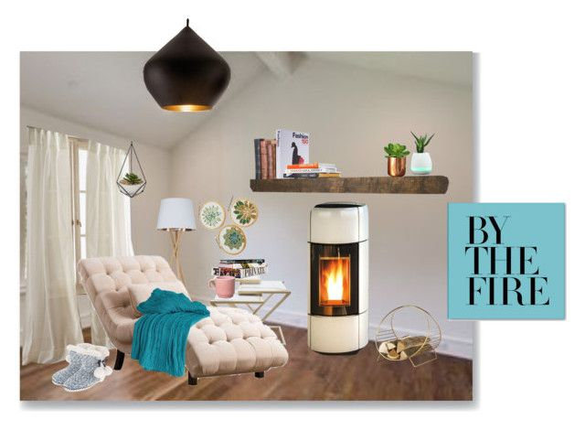 """""""By the Fire"""" by julineju ❤ liked on Polyvore featuring interior, interiors, interior design, home, home decor, interior decorating, Tom Dixon, DKNY, Abbyson Living and Anna Sui"""