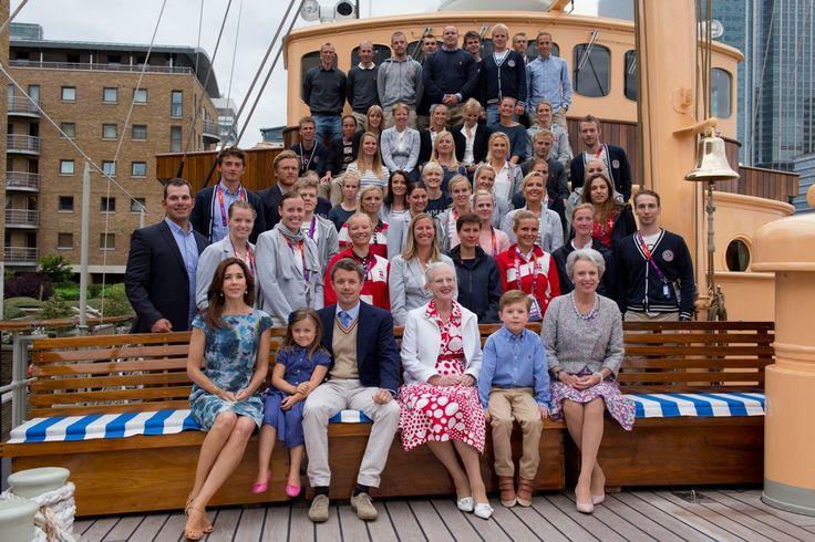 JO LONDON 2012 PRINCESSE MARY ET SES ENFANTS CHRISTIAN ET ISABELLA