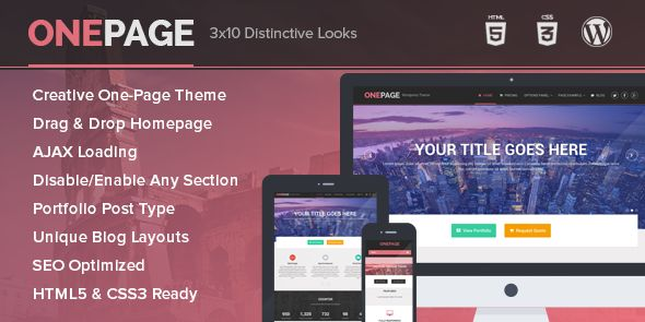 OnePage – Unique Portfolio and Business Responsive WordPress Theme