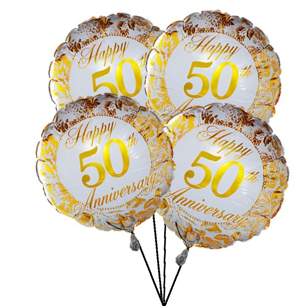 Wish a special couple a happy Golden Wedding #Anniversary and give their special day that extra sparkle by sending this stylish helium-filled balloon - ready for a surprise. Online #Balloon #Delivery to #UK