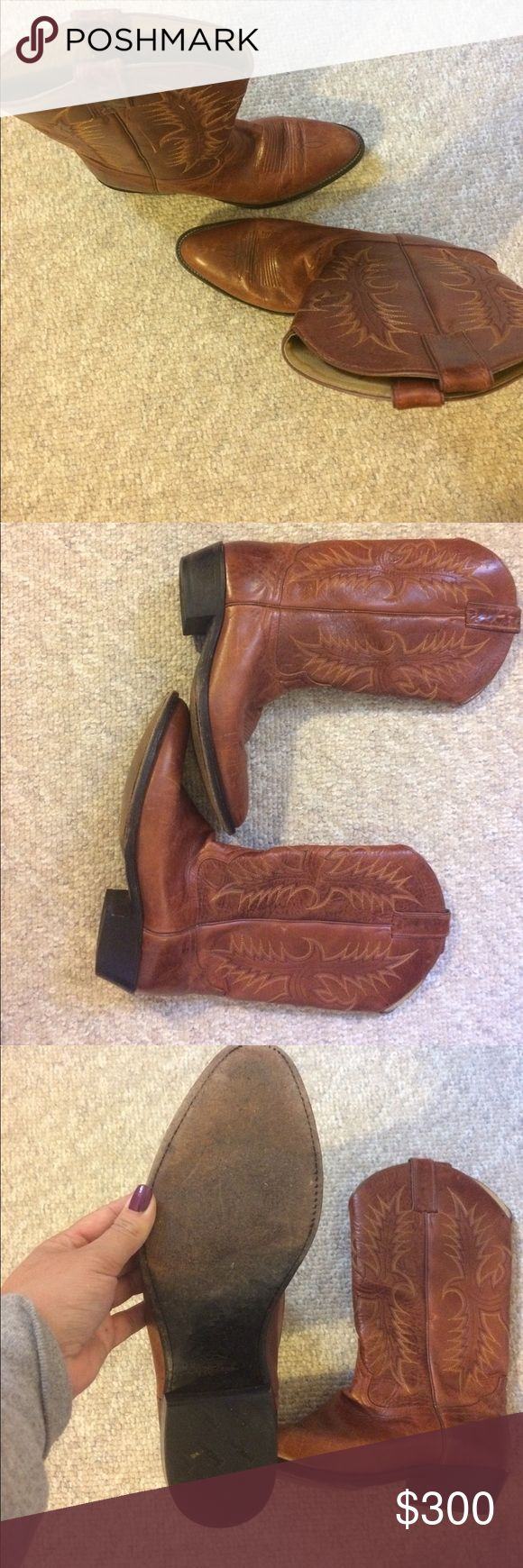 Vintage Tony Lama Men's Cowboy Boots Good Condition- Signs of Wear but plenty of life left. Style # VM2801 Tony Lama Shoes Cowboy & Western Boots
