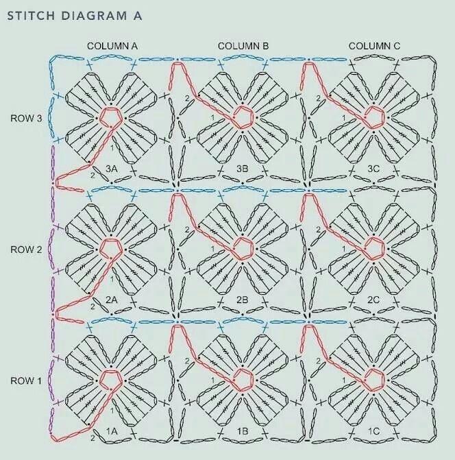Rose fower stitch crochet pattern   lucy   Pinterest   Rosas ...