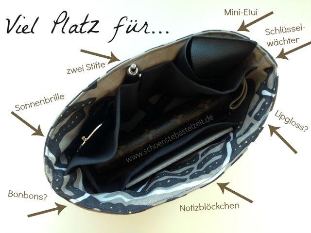 Ein Taschenorganizer - genäht von (c) www.schoenstebastelzeit.de