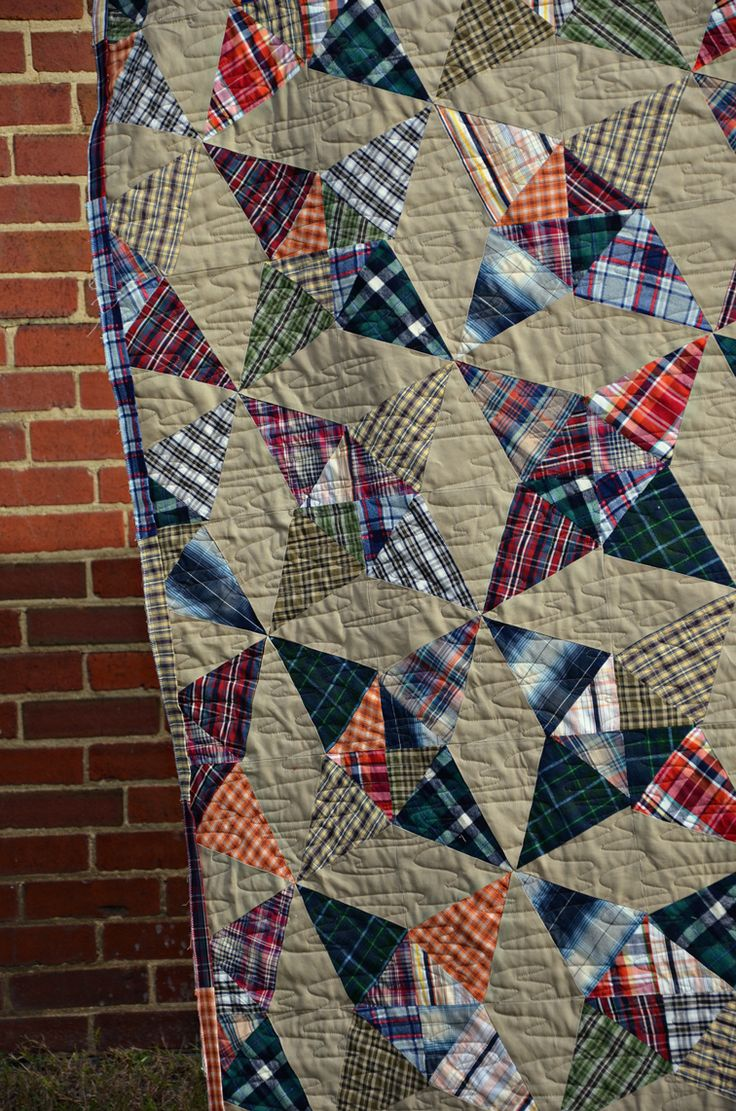Kaitlin's Thrifted Plaid Quilt « Eileen Quilts old quilts bring back great memories from my childhood.
