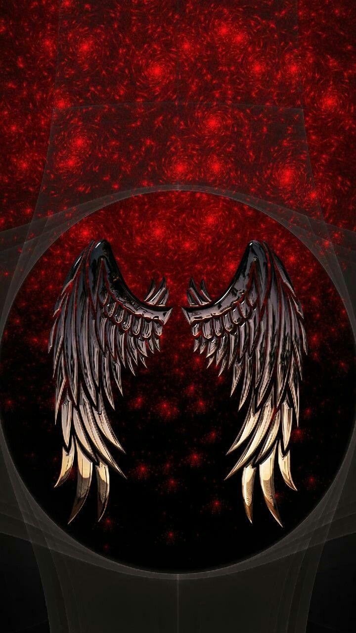 Pin By Lesweldster On Mobile Wallpapers Angel Wings Background Dark Angel Wallpaper Wings Artwork