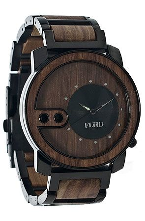 The Exchange Watch in Oak Wood by Flud Watches..love the face..