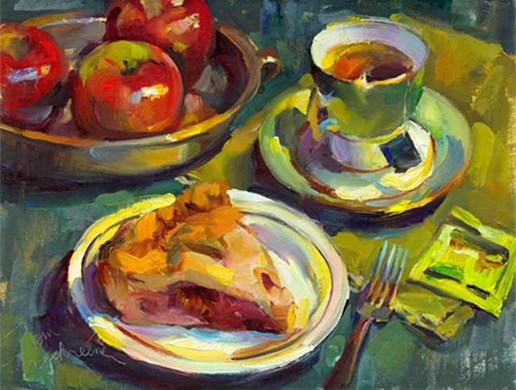 Apple pie tea by artist tom nachreiner leos de for Art and appetite american painting culture and cuisine