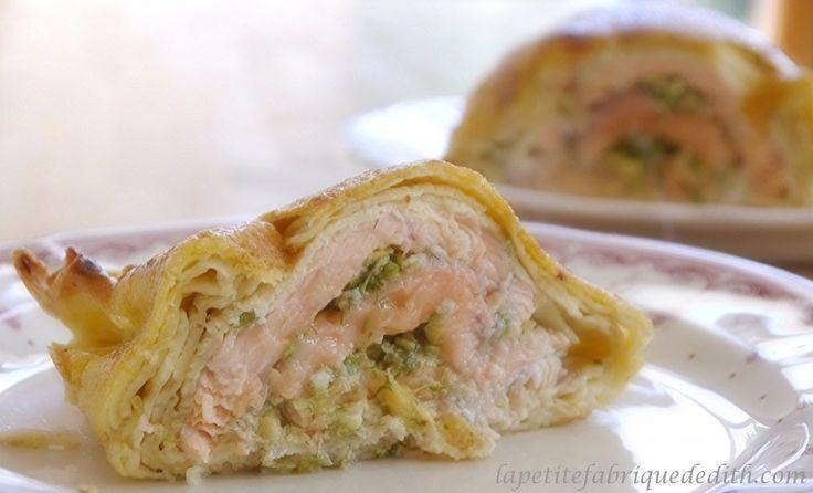 Feuilleté de saumon frais (sans gluten ni lactose)