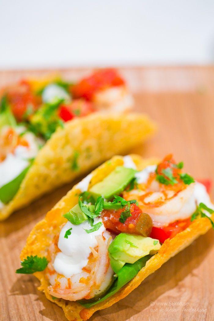Shrimp Tacos - LCHF Lågkolhydratkost Glutenfritt