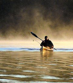 Early morning kayak fishing in the fog can make paddling unsafe.  The Railblaza kayak and canoe accessory light on a telescopic pole can eliminate this danger, by making the boat visible to all oncoming boaters.