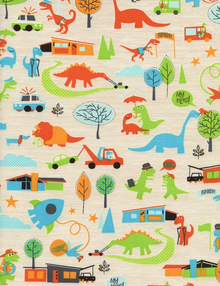 17 best images about kids 39 train dinosaur room on for Dinosaur fabric