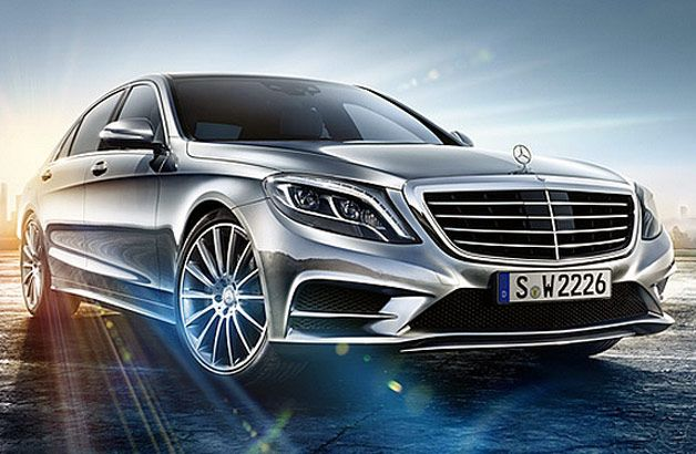"First official 2014 Mercedes-Benz S-Class exterior image leaked; I'm learning that ""leaked"" photos are a very effective marketing ploy in the automotive industry"