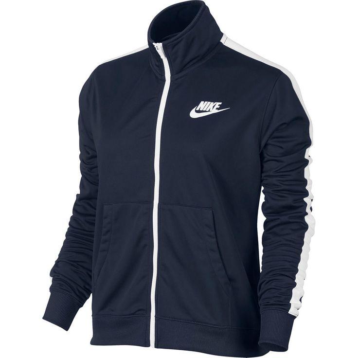 Women's Nike Track Jacket, Size: Medium, Light Blue
