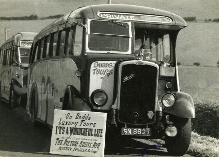 Luxury Coach Trip with Dodds of Troon - 1940's. haha, a bit different to the Coach we traveled on recently