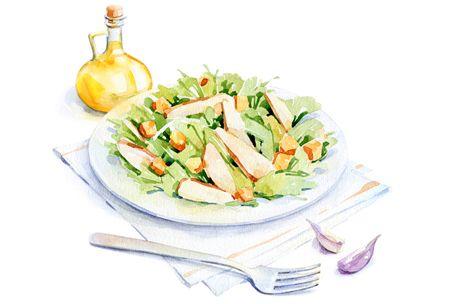 watercolor food for Afisha-Eda by Natalia Tyulkina, via Behance