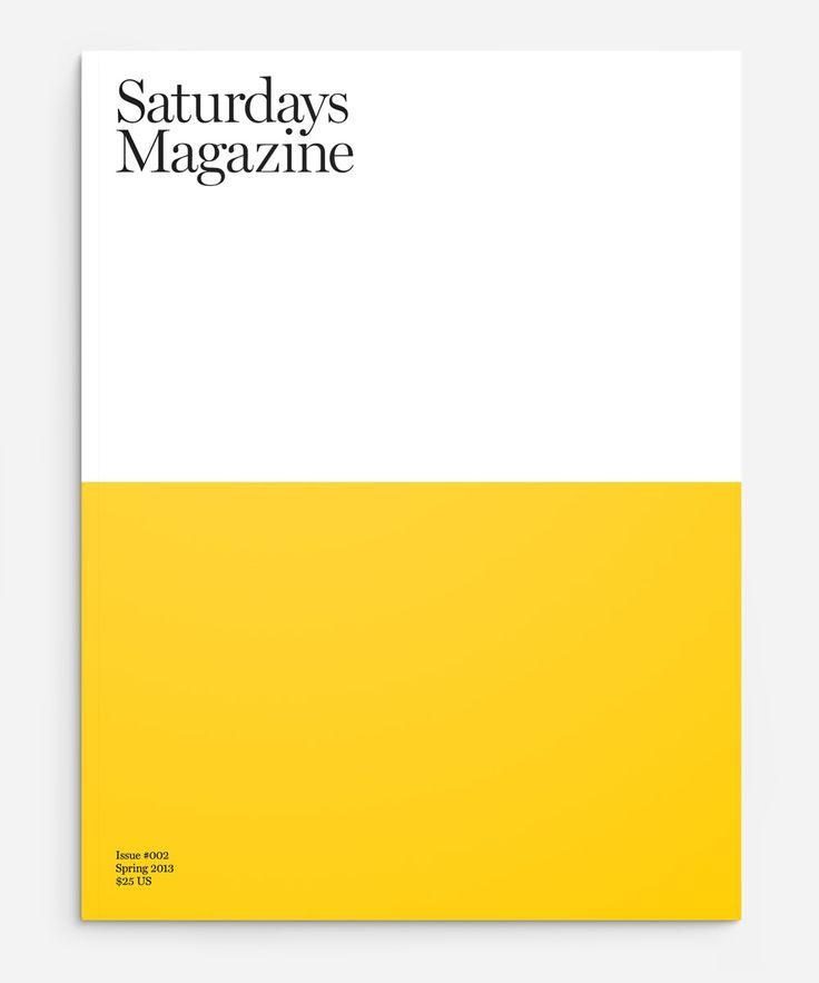Beautiful in its simplicity. Definitely should have an image on it, but you see this and you can already feel the magazine. Maybe a hard cover style like this could work