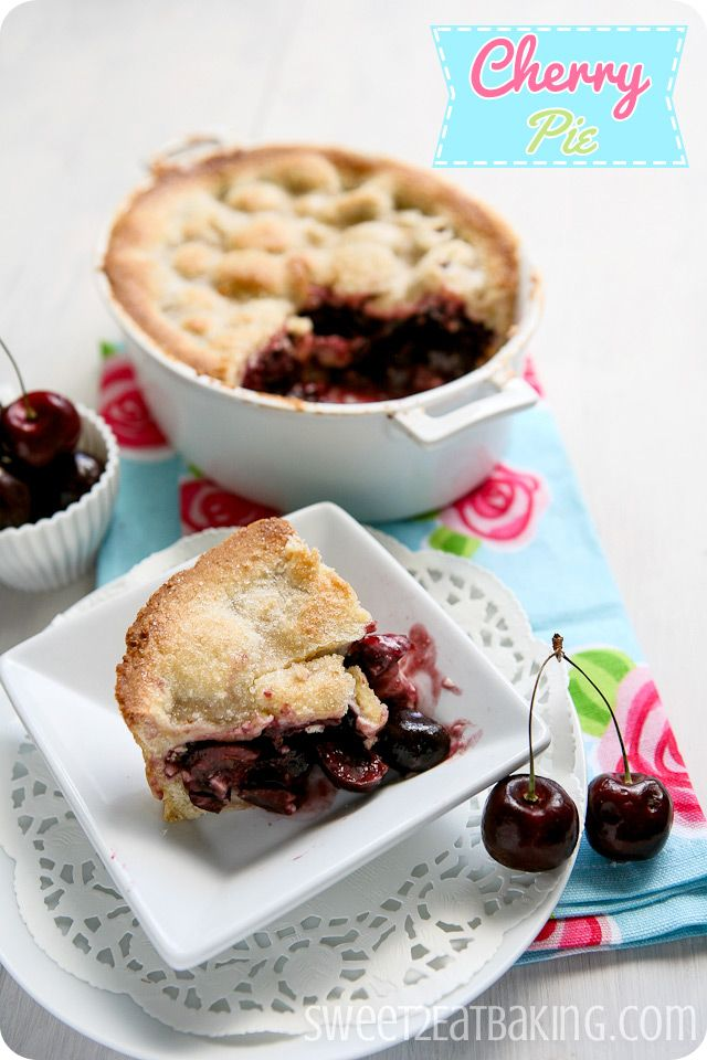 Cherry Pie from Sweet 2 Eat Baking - great cherry pie recipe for any occasion.