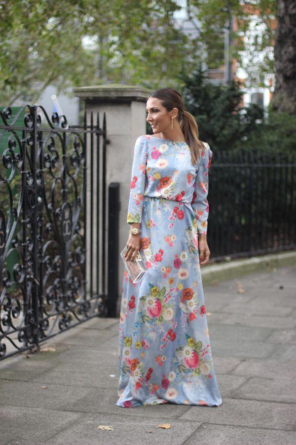 Modest Floral Maxi Dress