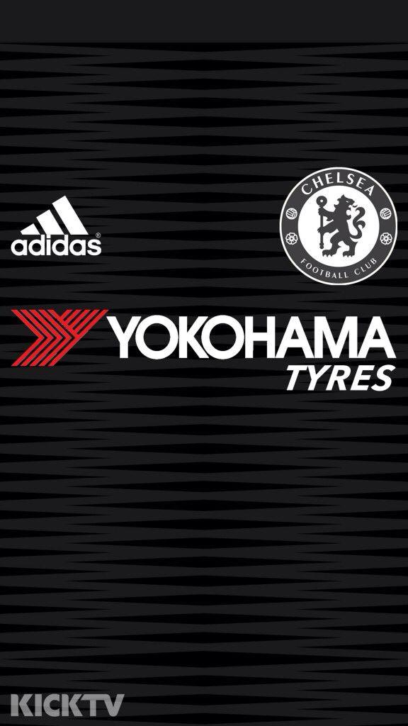 Chelsea FC 2015-16 Third Kit phone wallpaper.