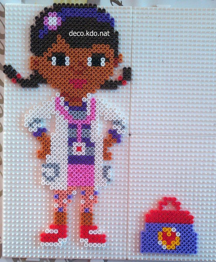 Dottie - Disney Doc McStuffins hama beads by DECO.KDO.NAT