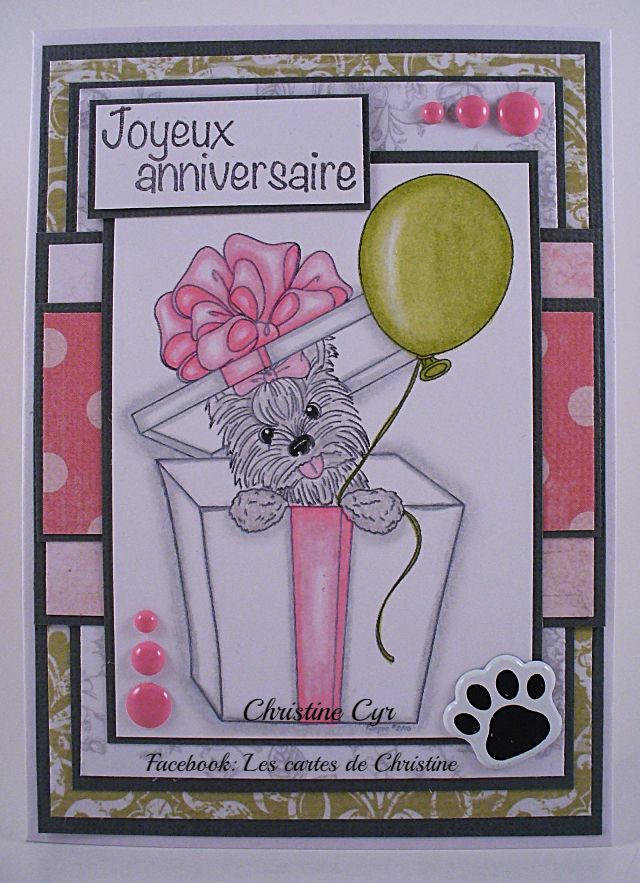 Cute As Button Digital Stamps Card Mes Cartes Cartes
