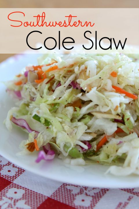 My ridiculously easy Southwestern Coleslaw is both sweet and tangy. I ...