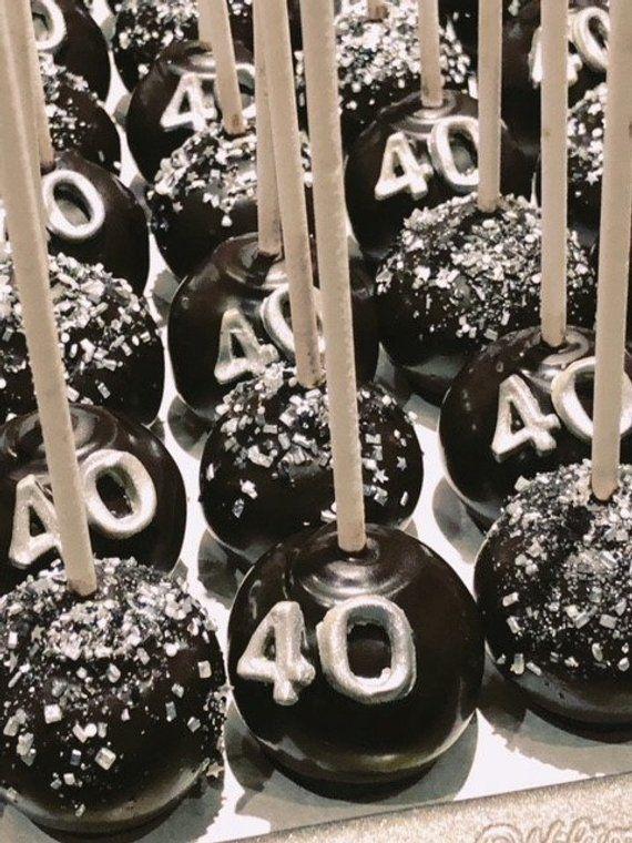 Cool Birthday Cake Pops 40Th Birthday Cake Pops Cake Pops Cake Funny Birthday Cards Online Inifodamsfinfo