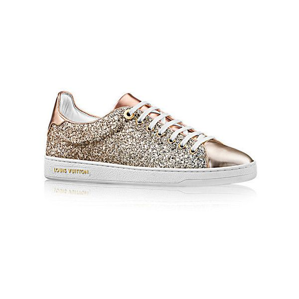 c90ce7e72277 Frontrow Sneaker (860 PAB) ❤ liked on Polyvore featuring shoes, sneakers,  tennis trainer, glitter trainers, glitter shoes, tennis shoes and metallic  tennis ...
