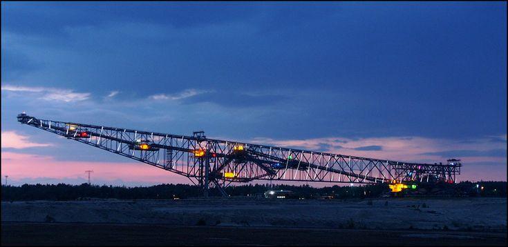 Overburden Conveyor Bridge F60 in the opencast mine near Jänschwalde, Germany