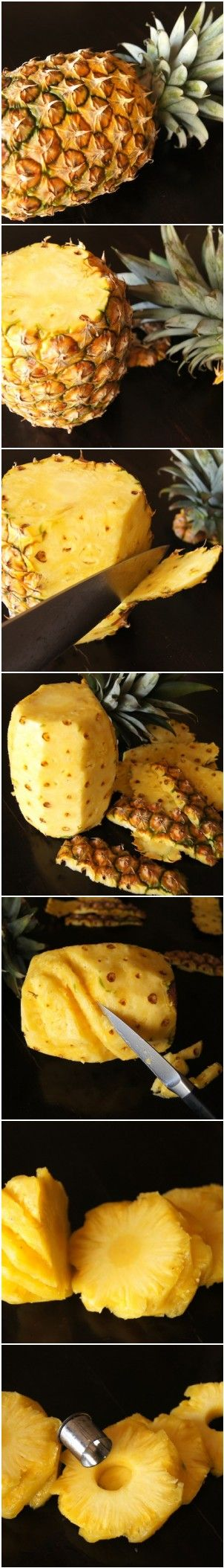 How to Peel and Cut a Pineapple | cookingontheweekends.com