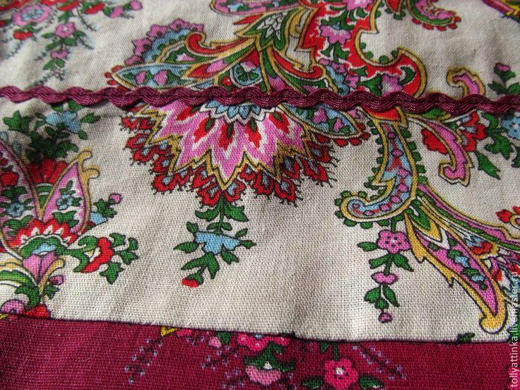 Купить Косоклинный сарафан - бежевый, косоклинный сарафан, сарафан, летний сарафан, фольклорный стиль