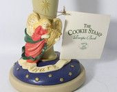 Brown Bag Cookie Stamp Herald, Angel Playing the Harp Christmas Image - 1995
