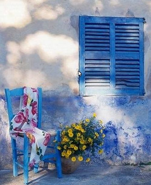 Pretty Blue Chair Print