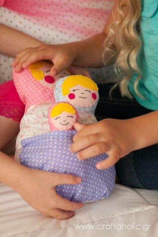 Babushka dolls / Matryoshkas (set of 3) :: craftaholic  (could this count as tandem babywearing? )