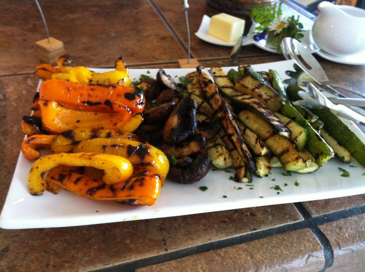 Grilled Seasonal Vegetables with Balsamic-Rosemary Drizzle
