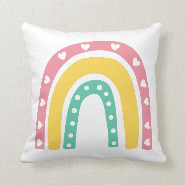 Two Sided Rainbow Throw Pillow Zazzle Com In 2020 Throw Pillows Pillows Rainbow Pillow